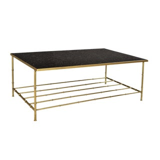 Black Marble & Brass Coffee Table