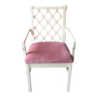 Woodson & Rummerfield Mauve Velvet Seat Arm Chair
