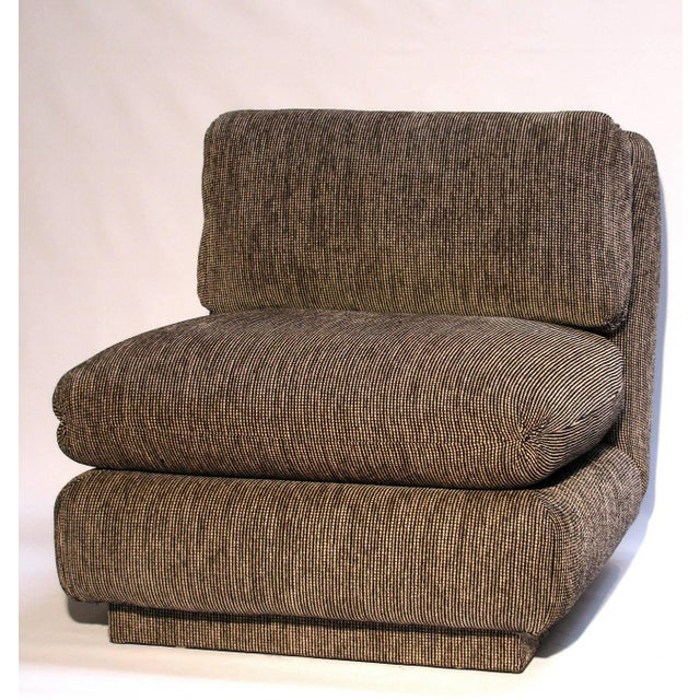 Marge Carson Modern Armless Lounge Chairs - A Pair - Image 3 of 7