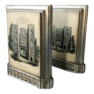 Pair, Mid Century Signed Borghese Bookends