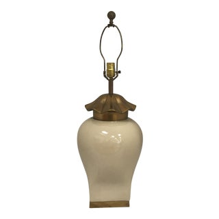 Chapman Ceramic & Brass Table Lamp