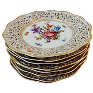 Antique Set of Dresden Plates - 8