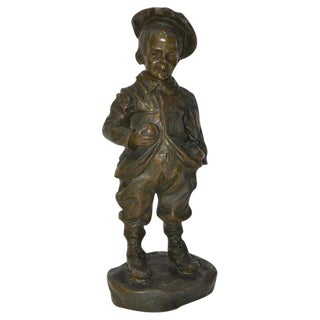 Bronze of a Young Boy Sculpture by Jose Cardona