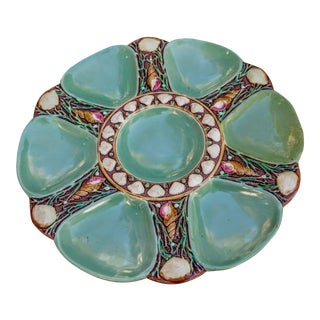 Antique Minton Majolica 6 -Oyster Plate