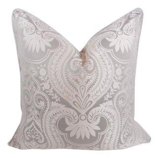 Platinum Damask Designer Pillow