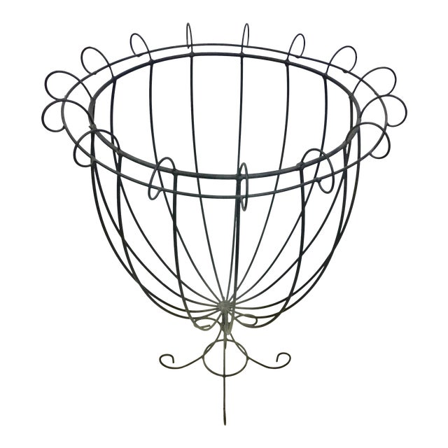 Vintage Wire Planter Topiary - Image 1 of 7