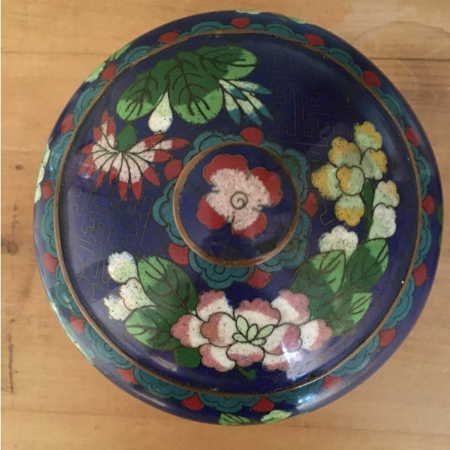 Vintage Cloisonné Bowl With Lid - Image 6 of 11