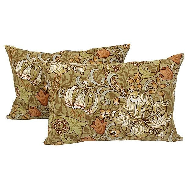 William Morris Lilly Pillows - A Pair - Image 1 of 4