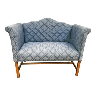 Small Chippendale Style Camelback Settee