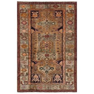 Earth Tone Vintage Persian Rug - 4′ × 6′3″