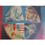 Image of 1960's Red Abstract American Flag Painting
