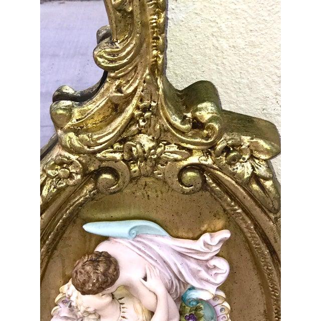 Image of Antique Italian Baroque Gold Gilded Mirror