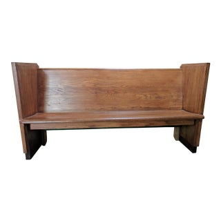 1950's Vintage Church Pew Made From Solid Oak