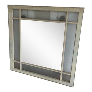 Large Mirror in Vintage Window Frame
