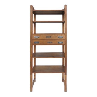 Rustic Arts & Crafts Industrial Bookcase Shelving