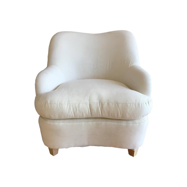 """""""Rounded"""" Chair + Custom Upholstery Service - Image 1 of 6"""