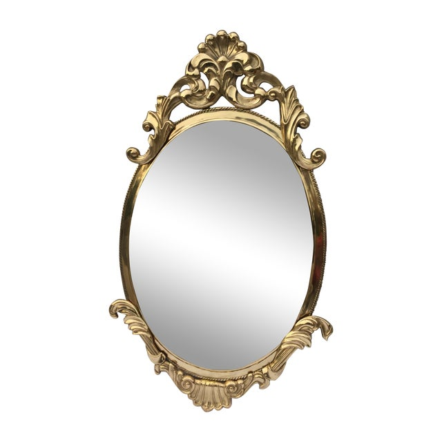 1970's French Style Brass Mirror - Image 1 of 9