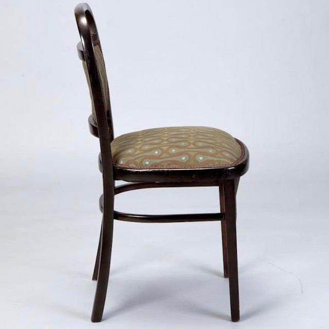 Image of Set of 4 Otto Wagner Secessionist Walnut Dining Chairs