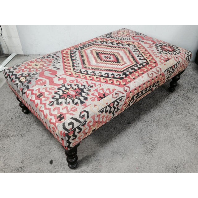 George Smith Boho Chic Kilim Ottoman - Image 3 of 10
