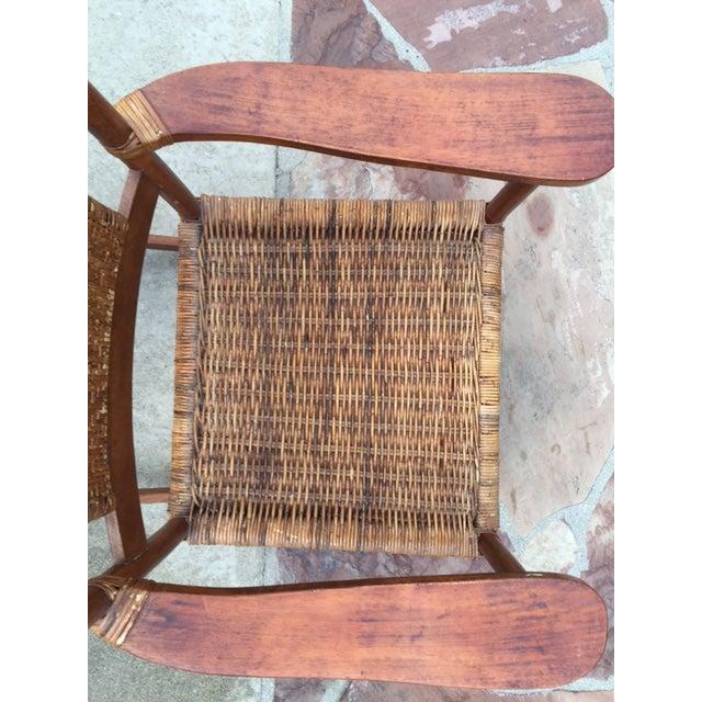 Teak Rattan Rocking Chair - Image 9 of 11