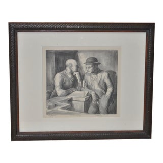 Charles Locke Pencil Signed Lithograph