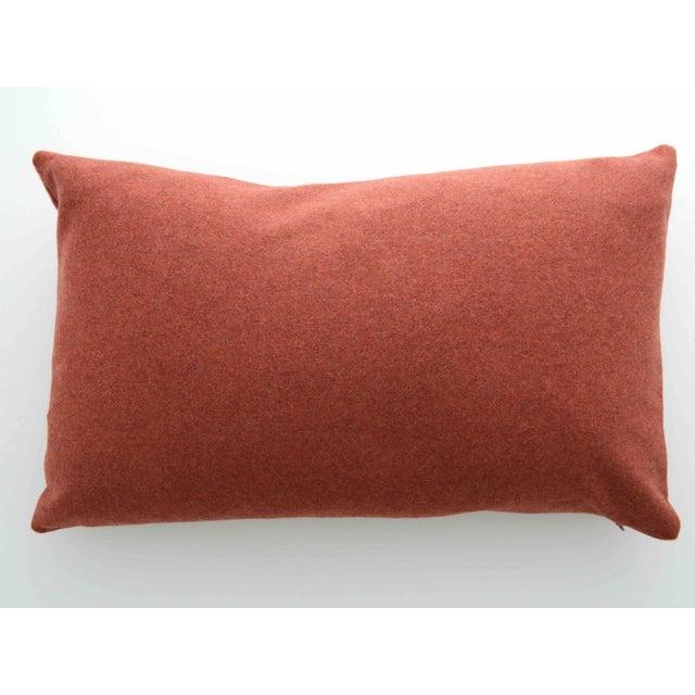 Italian Orange Sustainable Wool Lumbar Pillow - Image 2 of 5