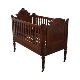 Antique Walnut American Renaissance Baby/Doll Crib