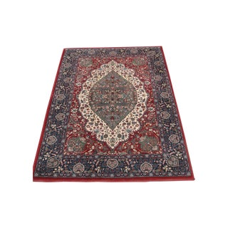 Red & Blue Oriental Medallion Rug - 3'3 X 4'11""