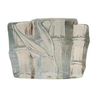 Vintage Blenko Bamboo Glass Bookend