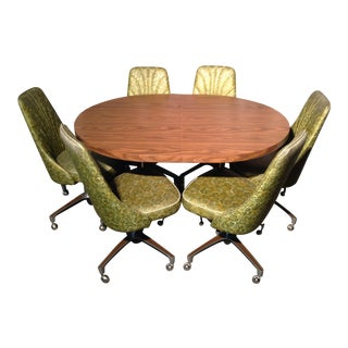 Vintage Chromcraft Kitchen Dinette With Six Chairs