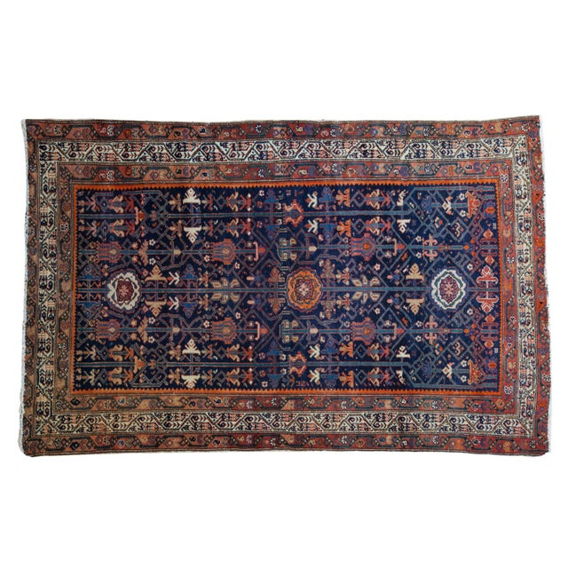 """Colorful Antique Malayer Rug - 4'2"""" X 6'6"""" - Image 1 of 10"""