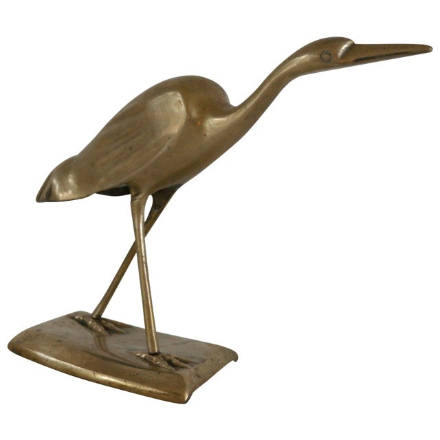 Brass Shore Bird Sculpture - Image 1 of 8