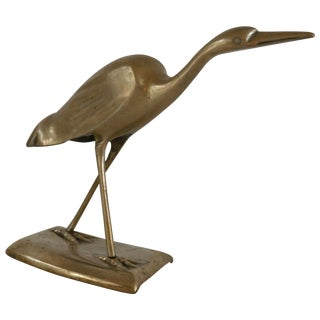 Brass Shore Bird Sculpture