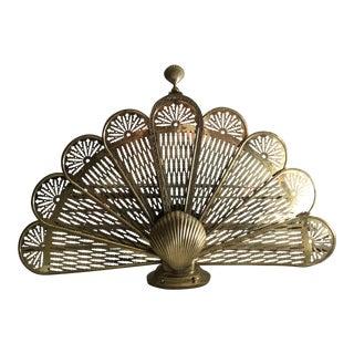 Brass Seashell Fan Fireplace Screen