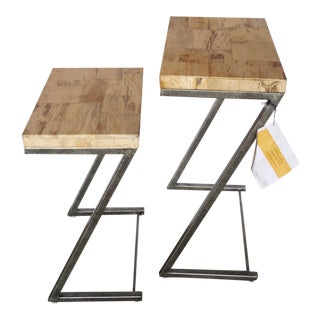 Bernhardt Petrified Wood Nesting Tables - A Pair