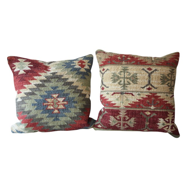 Kilm Pillows - A Pair - Image 1 of 5