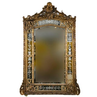 19th Century French Gilded Wood & Gesso Mirror