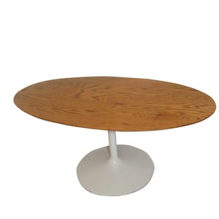 Saarinen Style Tulip Base Oval Dining Table
