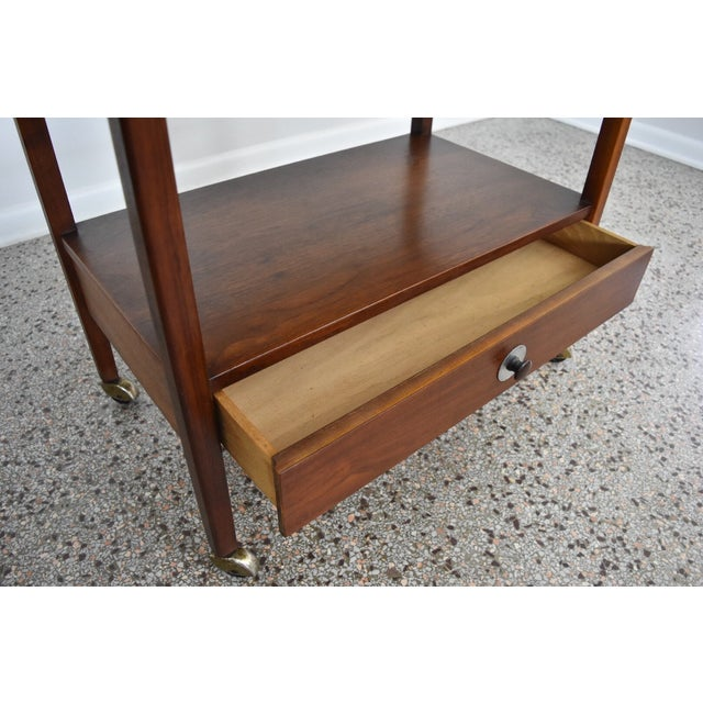 Image of Jack Cartwright Vintage 1960s Walnut Bar Cart