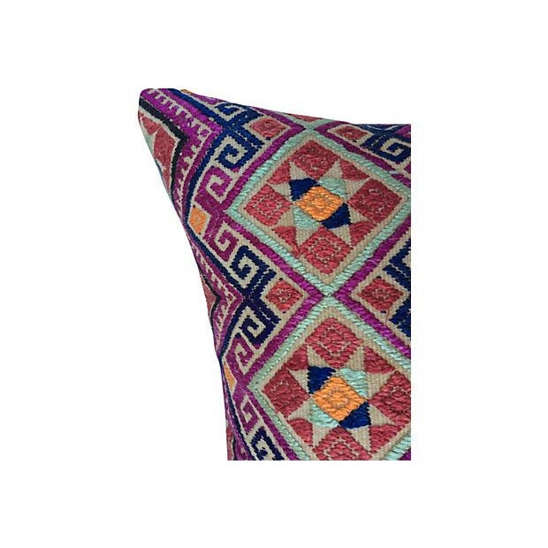 Chinese Wedding Quilt Textile Pillow - Image 3 of 5