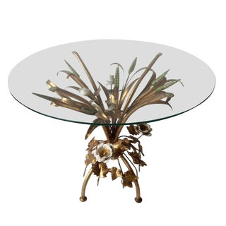 Italian Gilt Tole Wheat Sheaf Table
