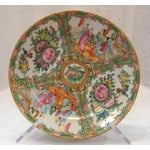 Image of Antique 1850's Rose Medallion China Plate