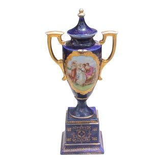 19th Century Antique Royal Vienna Lidded & Handled Urn