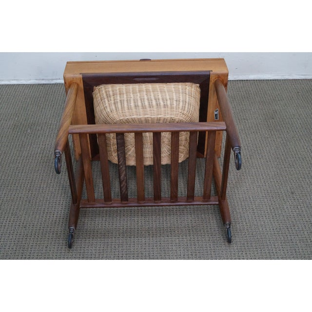 Vitre Vintage Danish Modern Teak Sewing Cart - Image 10 of 10