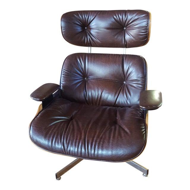 Vintage Herman Miller Eames Era Style Chocolate Selig Plycraft Lounge Chair - Image 1 of 11