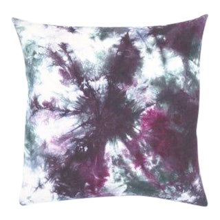 "Hand Dyed Marble Eggplant Aubergine Pillow Cover - 20"" x 20"""