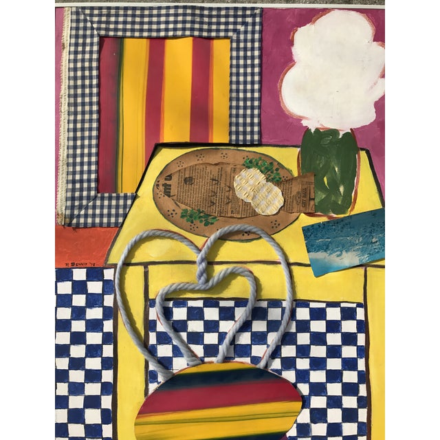 Mid-Century Abstract Geometric Still Life - Image 3 of 7