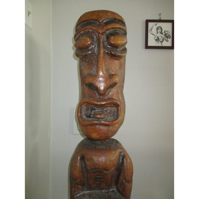 Image of Carved Tiki Garden Statue