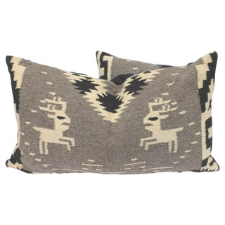 Navajo Indian Weaving Bolster Pillows with Deer