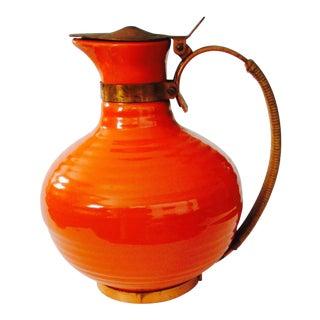 "Bauer Pottery ""Ringware"" Orange Coffee Pot"